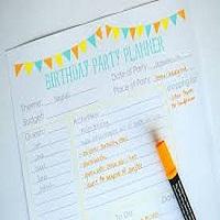 BIRTHDAY & PARTY PLANNER